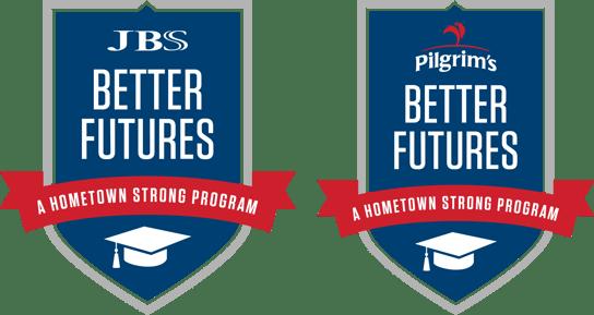 Better Futures Emblems for JBS and Pilgrim's